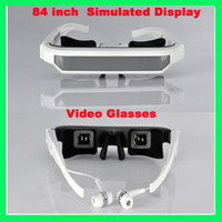 Wholesale Virtual inch screen Resolution Widescreen Video glasses for ipod iphone s ipad