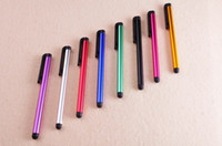 Wholesale 1000pcs Colorful Capacitive Touch Screen Stylus Pen for iphone iPad Tablet PC Mobile Phone