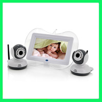 Wholesale 7 Inch Baby Monitor x Night Vision Camera Set Two Way Intercom Dual View