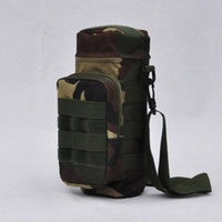 Wholesale Woodland Camouflage Camo Water Bottle Pouch Molle With Small Mess Pouch Military