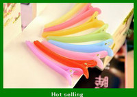 Wholesale Fashion girls hairpin Jelly color brief head beak clip open toe hair clips maker gifts