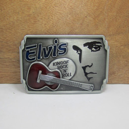 BuckleHome Music belt buckle guitar belt buckle with pewter finish FP-02525 with continous stock free shipping