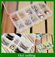 Ring Chirstmas Jewelry Boxes 10 Slot Plastic Jewelry Adjustable Compartments Box Case Craft Organizer Storage Beads sample order