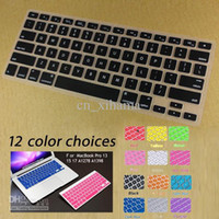 Wholesale Silicone Keyboard Cover Skin protector for ALL Macbook Pro Colors