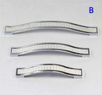 Wholesale EMS Xmas gift ambry drawer handles rural door knob silver diamond crystal handle