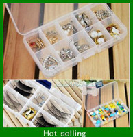 Wholesale hot selling Plastic Jewelry Adjustable Compartments Box girls hot Case Craft Organizer Storage Beads