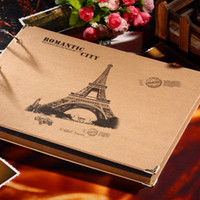 Wholesale Eiffel Tower Style Photo Albums DIY Adhesive Type Albums Kraft Photo Albums