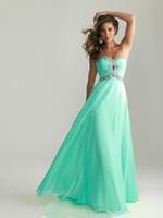 Sheath/Column Modern Sequin Column Sweetheart Crystal Bead Pleated Chiffon Aqua Prom Dresses Evening Formal Gowns H0690