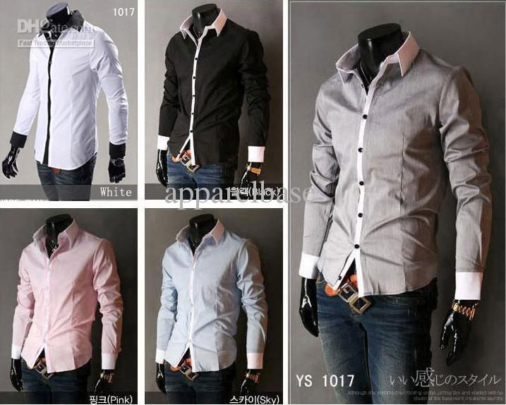 Hot Style ~Mens Slim UK Luxury Stylish Casual Shirts Tuxedo Shirts ...