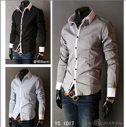 New Arrival Mens slim fit dress shirts free shipping to Russian.