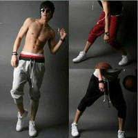 Wholesale Harem PantsMens Casual capri pants cargos shorts Mens sport shorts mens Hip hop pants