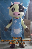 Wholesale dairy carttle Cow Ox Calf Bull Mascot Costume Cartoon Mascotte Outfit Suit No