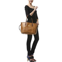 PU mcm 2013 - 2013 New Fashion Shopper Project Bag MCM Vistos Cognac Leopard Print Shoulder Handbags Tote