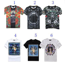 Wholesale Giv Enchy T shirt of Paradise Shark Head dog nude shark jaw men s and women s short sleeve T shirt