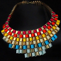 Wholesale 13 colors New Candy color false collar Necklaces Evening party Collar Necklace xk130103