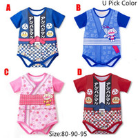Wholesale new summer baby triangle climb clothes infant short sleeved rompers baby kimono color for choose