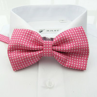 Wholesale Pink print bow tie Korean men amp women bow tie wedding tie banquet tie yc704