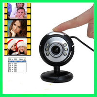Wholesale 30 Mega Pixel USB LED Webcam PC Camera with Mic win7 bits