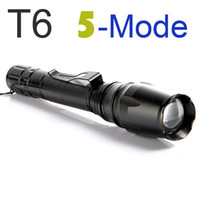 LED Flashlight Ultrafire 1600LM 5 Modes Zoomable Torch CREE ...
