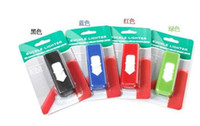 Wholesale 5PCS metal USB Power Rechargeable Green Electronic Cigarette Lighter Lighters USB no gas led lighter