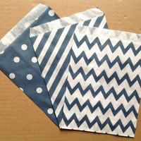 """all navy  navy colors 5""""x7"""" (12.7cm x 17.7cm)party favor Bags Candy Paper Goods Bag kraft bags Wedding Gift Wrap Event & Party Supplies"""