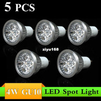 Wholesale 5PCS W GU10 AC85 V white warm white LED Bulb Light Spot Light LED Light Lamp with L