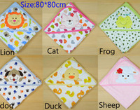 bath lions - New Cart Lion amp Cat baby blanket infant bath towel Newborn bathrobes NB dog cartoon blankets cm