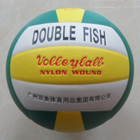 Wholesale Official size double fish match quality panels PU Laminated volleyball Soft touch