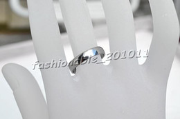 50pcs Stainless steel Ring 4mm Smooth High Gloss cambered surface Silver Tone Rings Jewelry R345