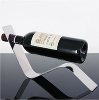 Wholesale Stainless Steel Arc Wine Racks Holder Bottle Coolers Holders Barware
