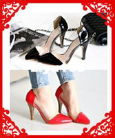 Wholesale 2013 New Arrive Fashion Pointed Toe Sexy Party Women Platform Red High Heel Pumps