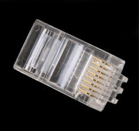 Cat-5e Patch Cables utp cable cat 5e - RJ45 CAT5 Modular Plug Network Connector for UTP Cat5 Cat5e Cat6 Network Cable Crystal Heads P8C