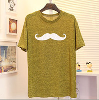 Cheap Wholesale 2014 New Cute sweet retro Beard Casual Women Loose Tops T-shirt Tees Shipping with Trackin