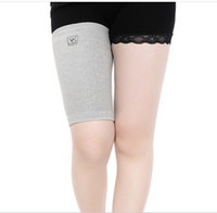 Wholesale 0895 imported bamboo charcoal fiber thigh support sports knee high elastic warm care