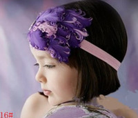 Wholesale NEW Girls feather headband TOP BABY Hair Accessories infant headwear baby hair band cld