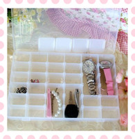 Wholesale DIY Slot Jewellery Storage Box Travel Watch Earring Case Organizer Plastic