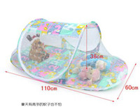 Wholesale Summer Baby Mosquito Net Fold Safty Mosquito Net Boat Style Playpen Shade Travel Tent Bed YL