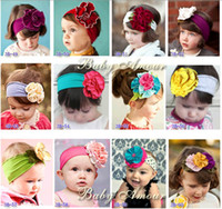Wholesale NEW Baby Amour headband Girls headbands Infant headwear baby Fashion flower Hair Accessories ty