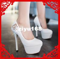 Wholesale 2013 Fashion Brand Platform Wedding Pumps Sexy Women Rhinestone High Heel Red Bottom Shoes Black White