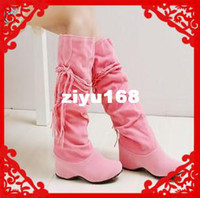 Wholesale 2013 New Fashion Ladies Knee High Heel Boots For Women Platform Winter Boots Big Size EU34