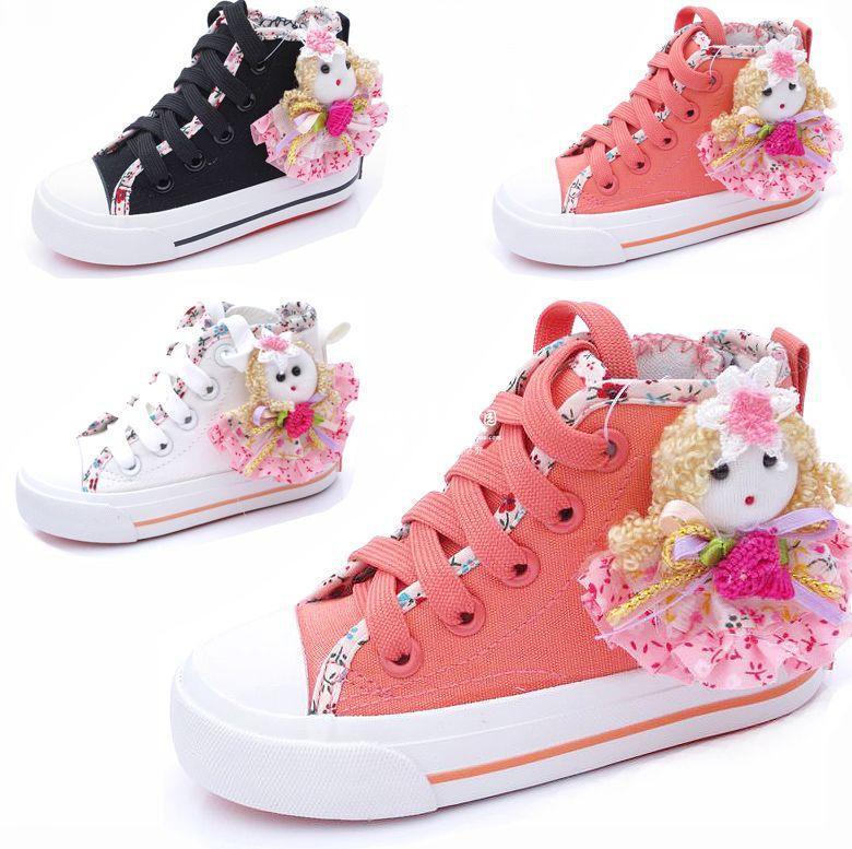 Fashion Girls Princess Baby Shoes Canvas