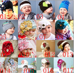 Wholesale 2013 TOP BABY hats baby fashion cute caps baby Beanie with Big Flowers infant Toddler s Hats