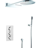 Wholesale 2013 In wall thermostatic shower mixer with function shower head