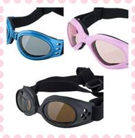 al por mayor gafas para perros-Desgaste de la moda para mascotas Las gafas de sol para perros de ojos a prueba de viento gafas de protección UV 3 colores