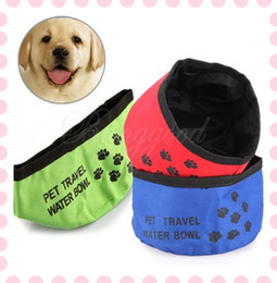 Wholesale Pet Dog Cat Puppy Feeding Bowl Water Food Foldable Dish Bowl Outdoor Travel Camping