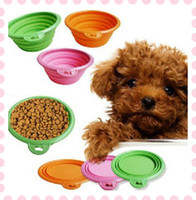 Wholesale Dog Cat Pet Collapsable Feeding Bowl Camping Water Food Bowl Portable Pets Travel Cup