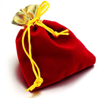 Wholesale JEWELRY GIFT BAGS VELVET SILK WRAP CHEAP PRICE CHINESE RED HH205