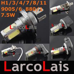 White 7.5W H1 H3 H4 H7 H8 H11 9005 9006 1156 1157 7443 12V LED Bulb Car Fog Light Daytime Running Lamp Turn Brake Reverse Signal Lights