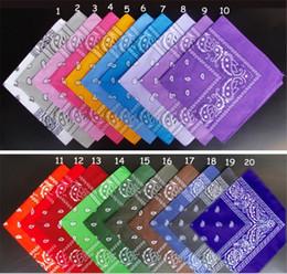 Hot Sale 100Pcs U Pick 100% Cotton Paisley Bandanas double sided head wrap scarf Mix Colors