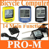 Wholesale 3 Colors Choice Waterproof LCD Cycling Bicycle Bike Computer Odometer Speedometer Free Drop Shipping